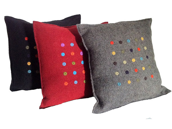 El Camino de Los Altos Felted Wool Pillows