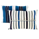 Tilonia® Table Linen Set for 6 in Centipede Stripe in Blueberry Blue