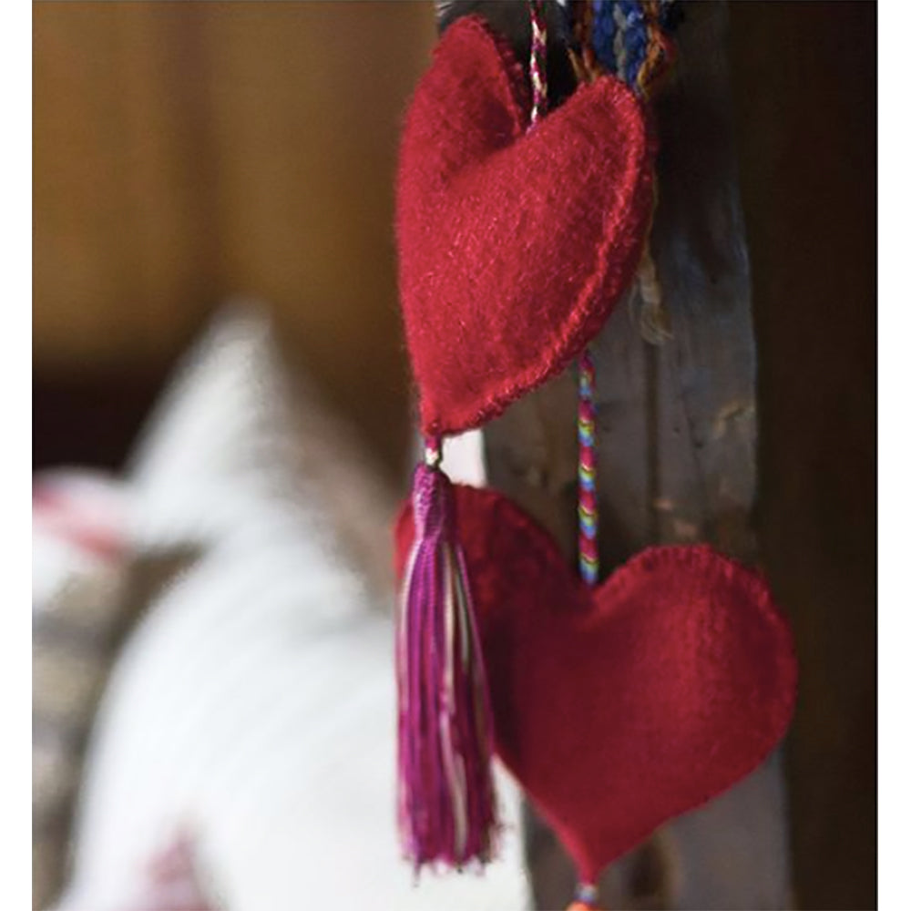 El Camino de Los Altos Felted Heart