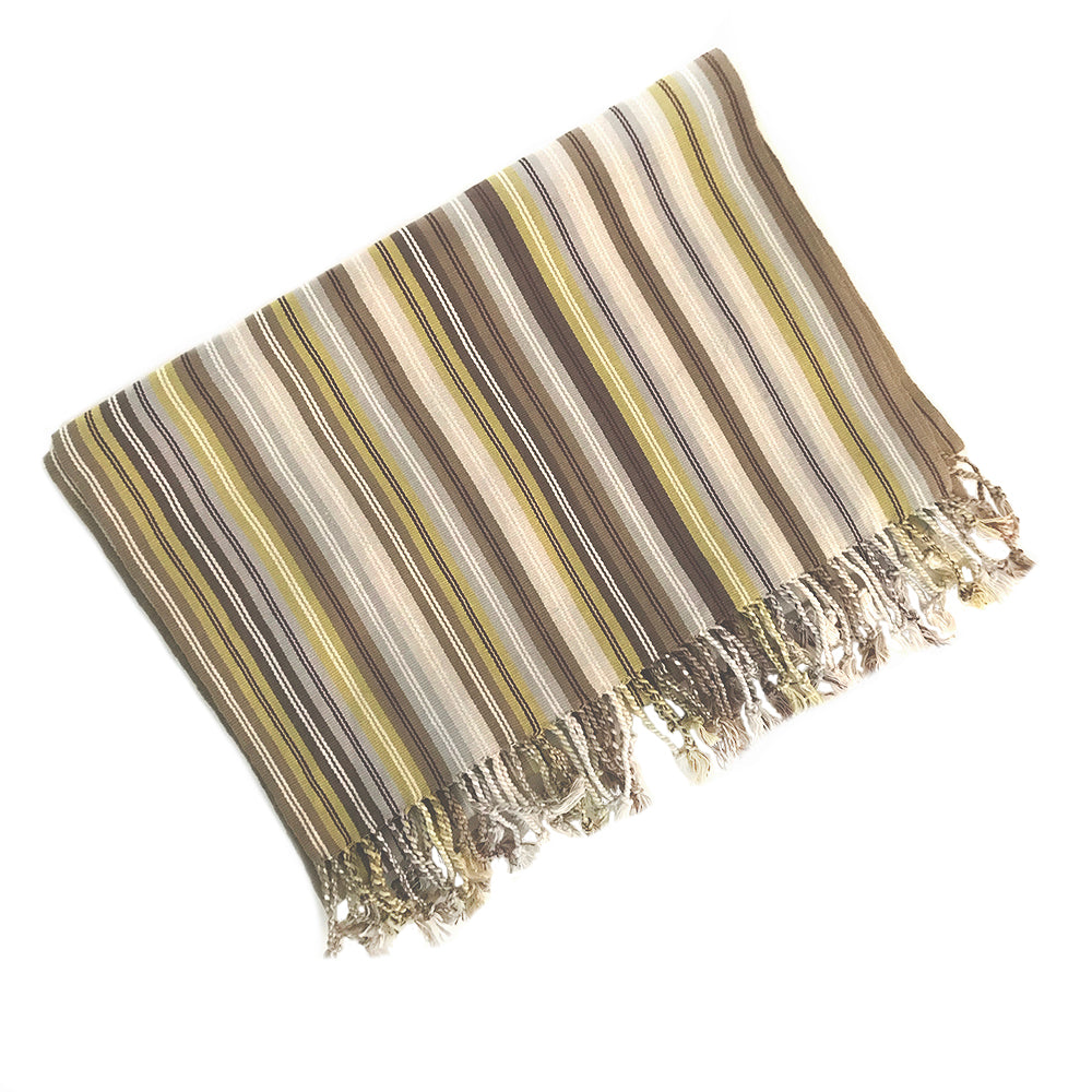 El Camino de Los Altos Striped Shawl - Dulce Toronja