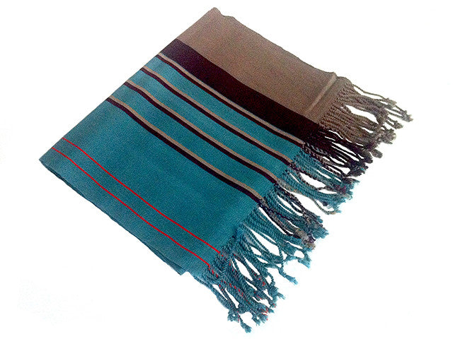 El Camino De Los Altos Striped Shawl   On