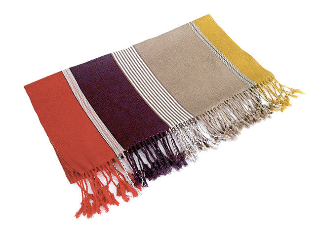 El Camino De Los Altos Striped Shawl   Color 3