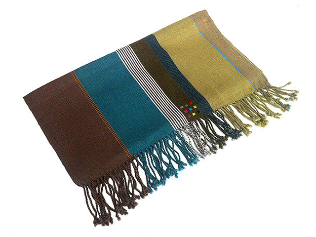 El Camino De Los Altos Striped Shawl   Lima
