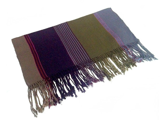 El Camino De Los Altos Striped Shawl   Yox