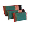 El Camino de Los Altos Set of 3 Striped Cases - Turquoise & Red Stripes