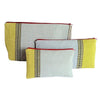 El Camino de Los Altos Set of 3 Striped Cases - Grey & Mustard from Sprout Enterprise®