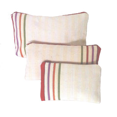 El Camino de Los Altos Set of 3 Striped Cases - Cream