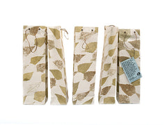 Elrhino Paper Gift Bags - Set of 5 with German Leaf Print