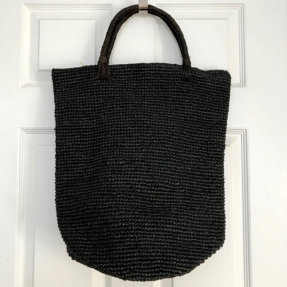 Razafindrabe Large Raffia Bucket Bag - Black from Sprout Enterprise®