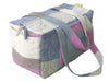 TILONIA® QUILTED DUFFEL BAG IN MULTI COLOR STRIPED HANDLOOM