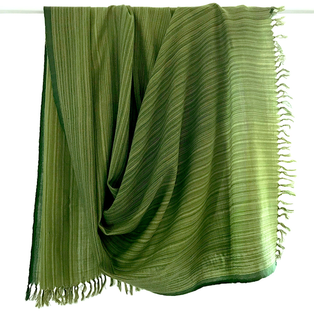 Kilmora Handwoven Throw in Green Stripes