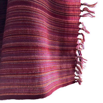 Kilmora Handwoven Throw in Red Stripes