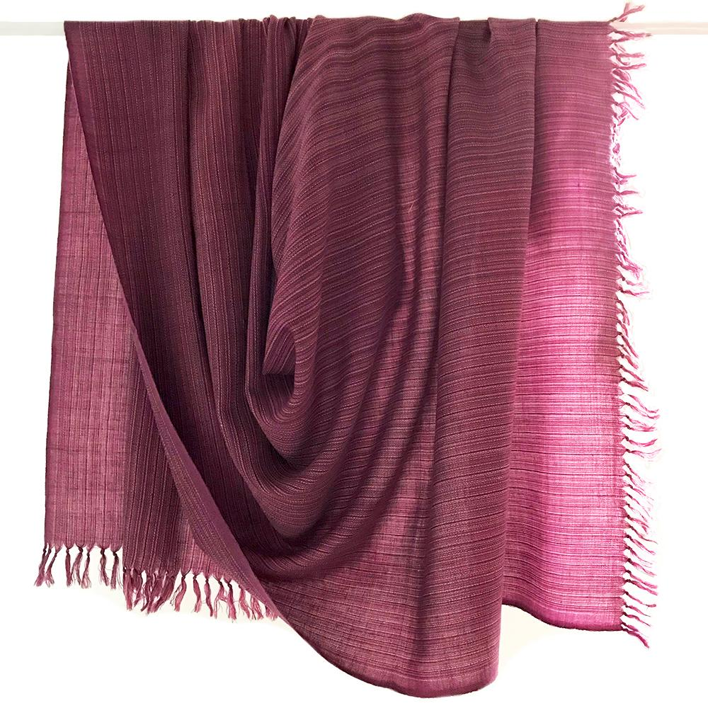 Kilmora Handwoven Throw in Mauve Stripes