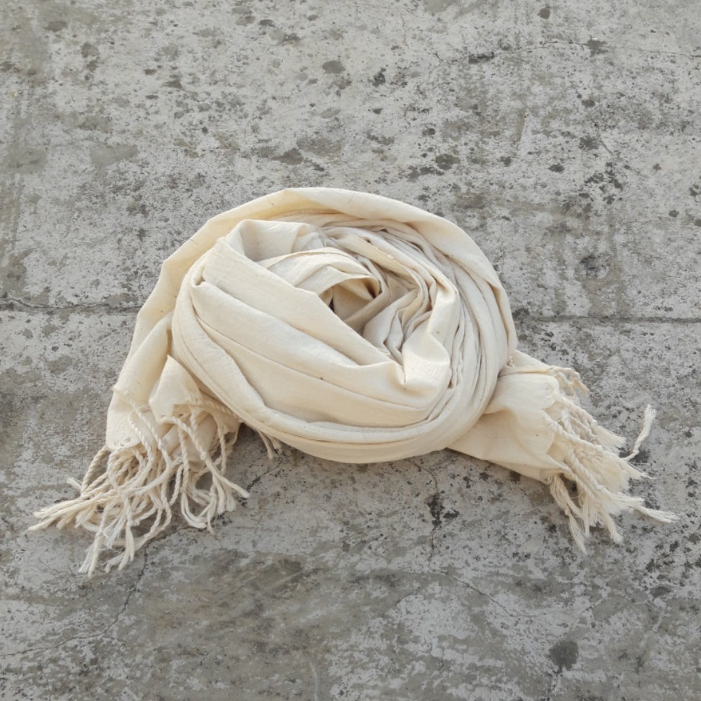 Kala Swaraj Mulmul Cotton Shawl - Natural