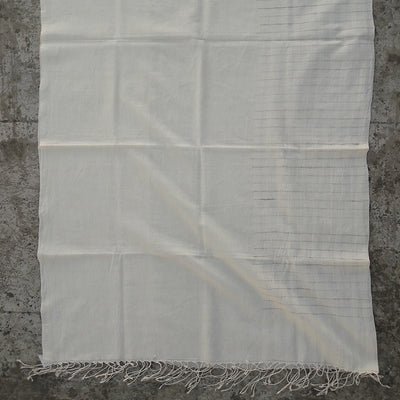 Kala Swaraj Mulmul Cotton Shawl with Tussar Silk