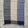 Kala Swaraj Mulmul Cotton Shawl - Black & Blue Warp Bands from Sprout Enterprise®