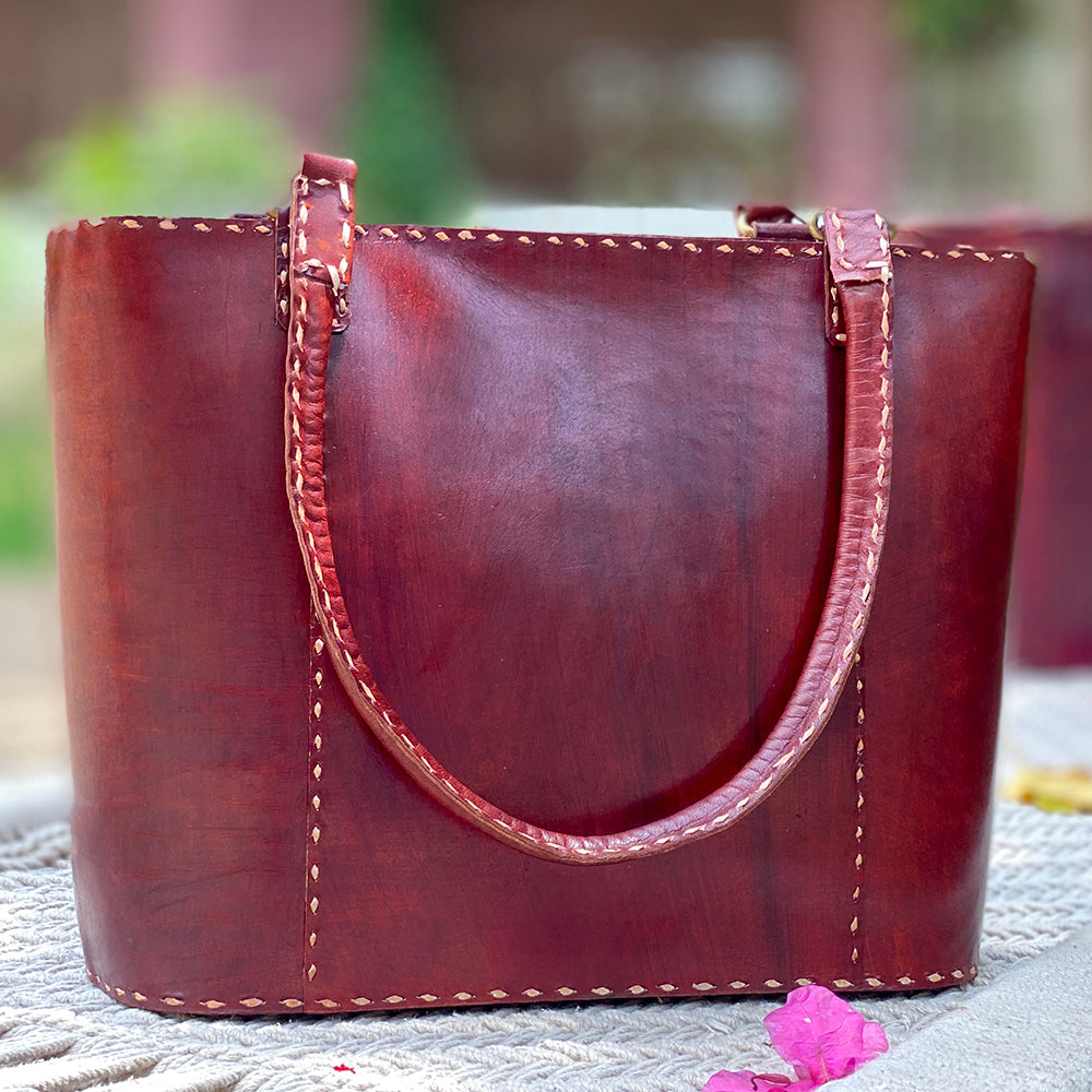Tilonia® Leather Tote Bag