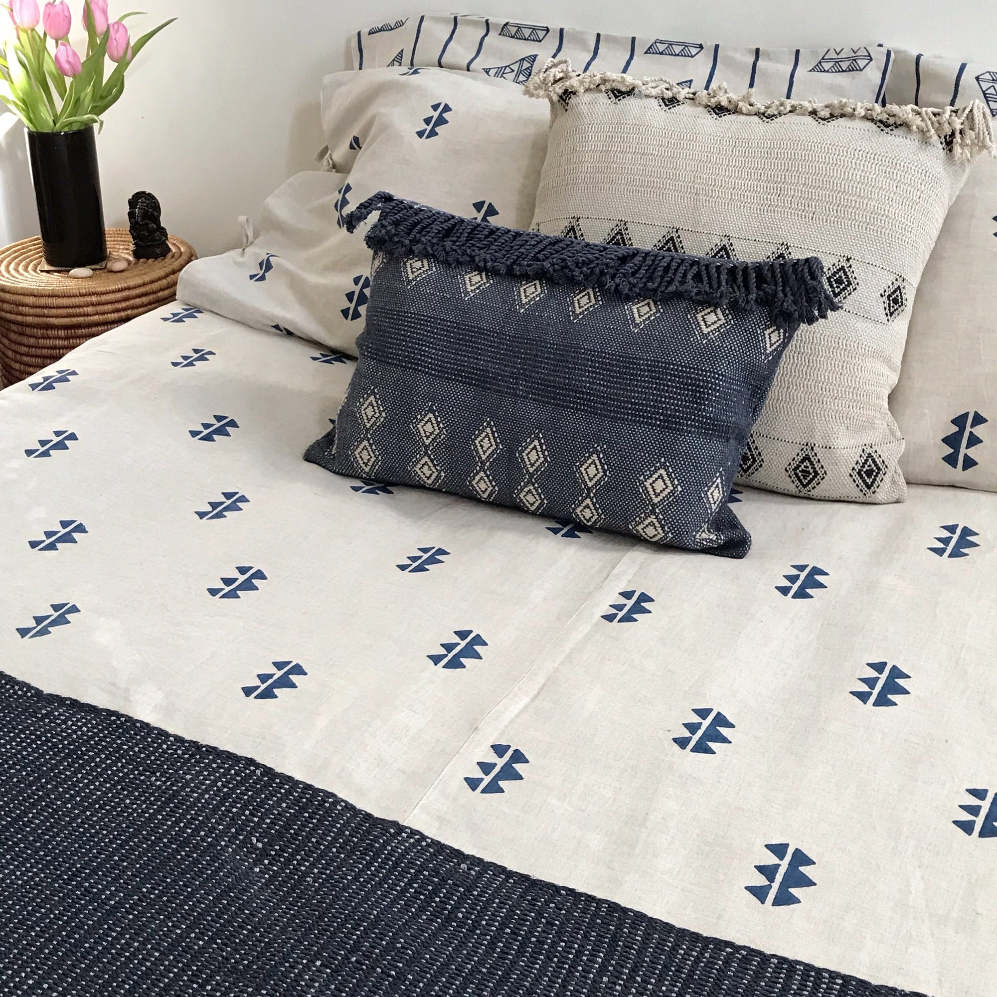 MATTER for Tilonia® Queen Duvet Set in Kangura Spikes in Blue