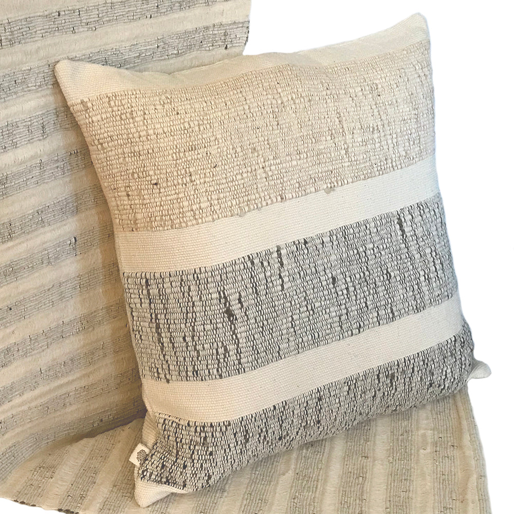 Natural Art Striped Pillow - STP005E
