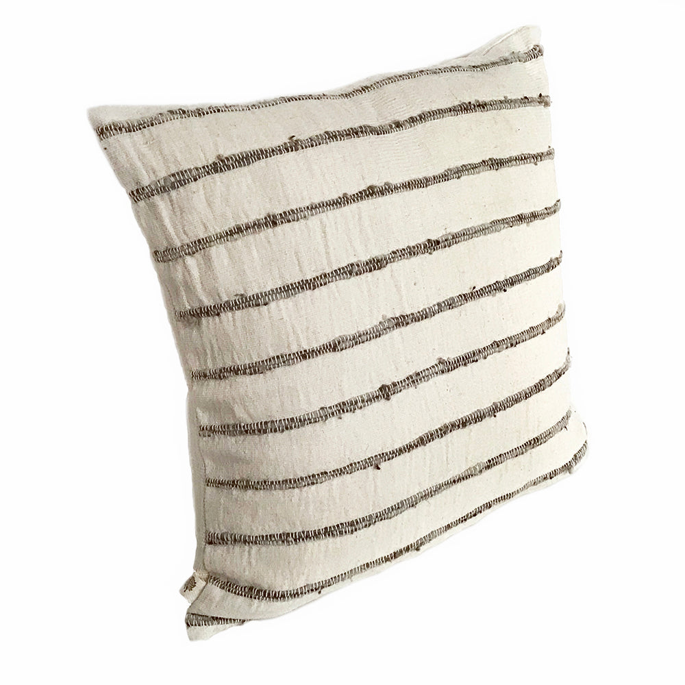 Natural Art Striped Pillow - STP009D