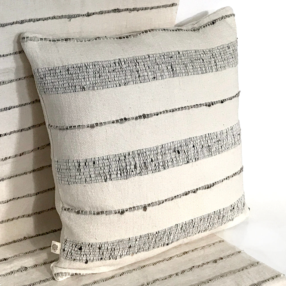 Natural Art Striped Pillow - STP012E