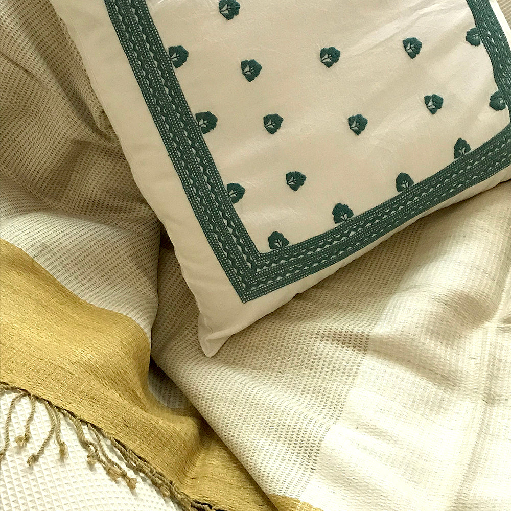Eco Tasar Handwoven Silk Throw - Gold from Sprout Enterprise®