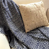 Eco Tasar Handwoven Cotton Throw - Navy