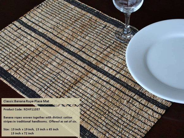 ROPE Classic Banana Rope Placemats - Set of 4