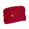 Rabha Women Weavers X Nomi Network - Cosmetic Case for a Cause - Red from Sprout Enterprise®