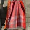 Rabha Women Weavers Handwoven Shawl - Orange