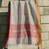 Rabha Women Weavers Handwoven Shawl - Orange & White from Sprout Enterprise®