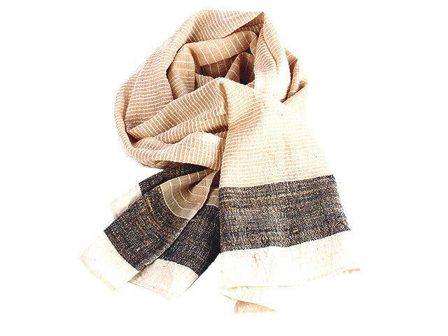 Women Weave Handspun Cotton &Amp; Tussar Silk...