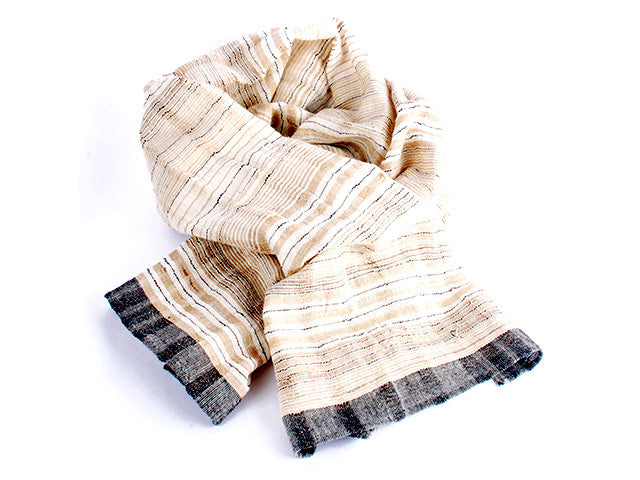 WomenWeave Handspun Cotton & Tussar Silk Shawl WW108GM