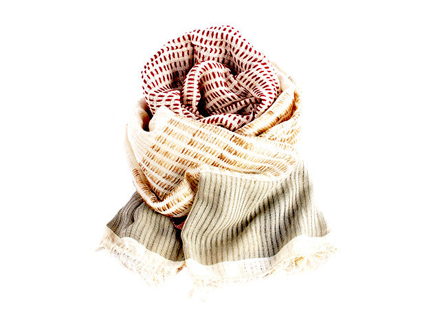 Women Weave Handspun Cotton Shawl Ww120 Kt