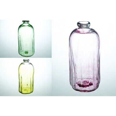 Xaquixe Handblown Glass Bottle - Cortex - Fushcia