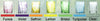 Xaquixe Handblown Glass - Wide Shot - Set of 6 in Assorted Colors - Pre-Order