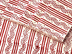 Tilonia® Table Linen Set for 6 in Centipede Stripe in Cranberry Red