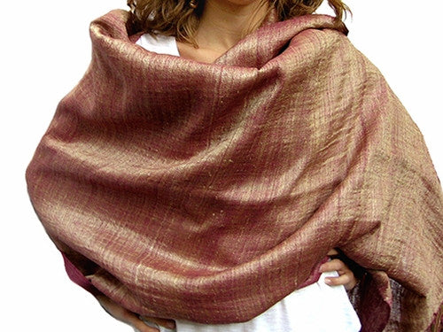 Avani Wild Silk Shawl In Frosted Cranberry