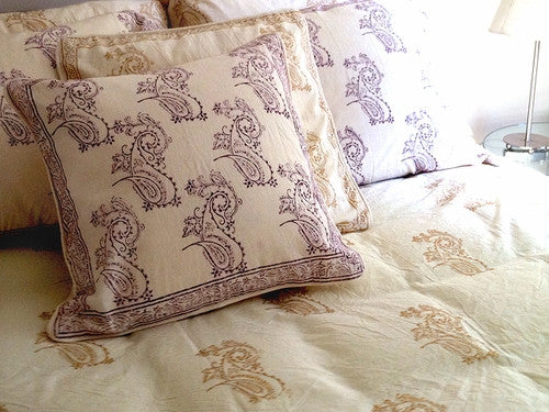 Tilonia® Queen Duvet Set in Fancy Paisley in Plum