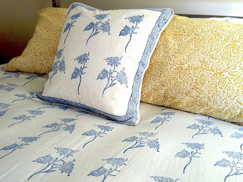 Tilonia® Queen Duvet Set - Fancy Floral in Blue & White from Sprout Enterprise®