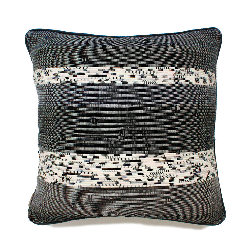 tonlé Takeo Pillow Cover - Tribal Denim