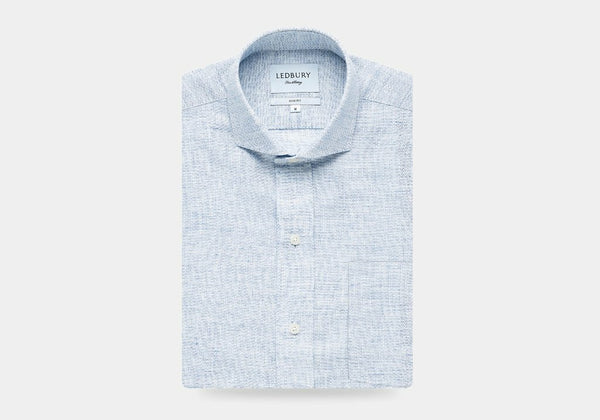 The Blue Chaversham Cotton Linen Casual Shirt