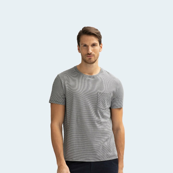 Men's Pima Cotton Pocket Crew Neck T-Shirt