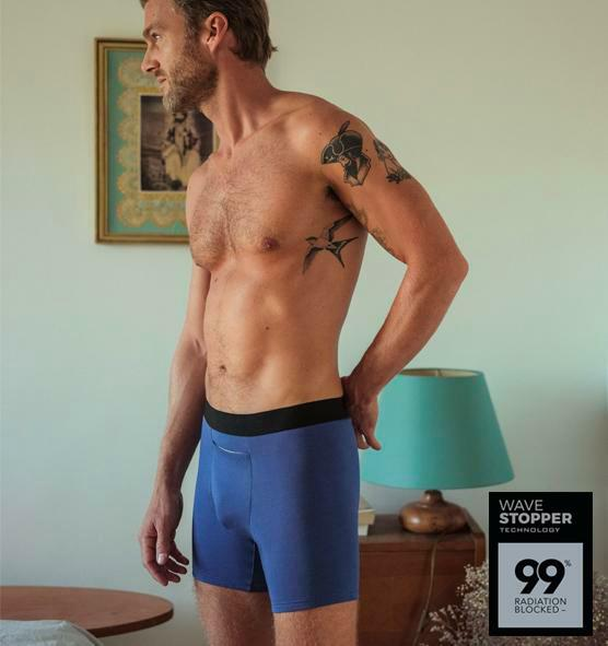 Radiation-blocking Boxer Briefs