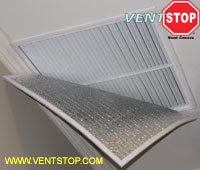 Insulated non-magnetic vent covers for central air conditioning vents, air conditioning registers, returns whole house fans, fan shutters, fan louvers