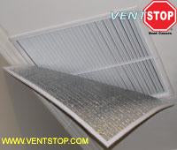 "VentSTOP 17""x17"" Insulated Non-Magnetic AC Vent Cover"