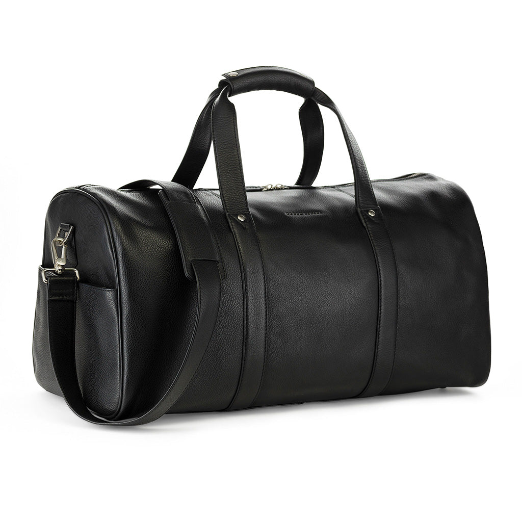 Perfect leather weekend bag, black leather weekend bag, leather holdall for men, leather travel bag for men