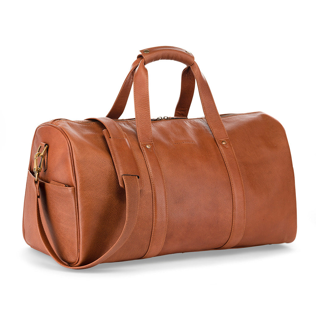 Tan leather weekend bag, Tan leather holdall, leather weekend bags for men, Urban Safari leather weekend bag
