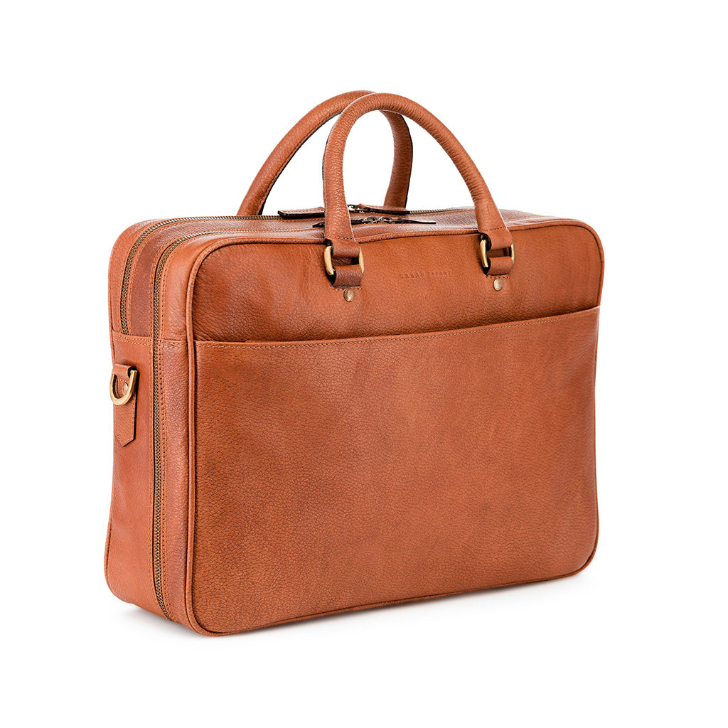 Leather soft briefcase, tan leather soft briefcase, tan leather mens laptop bag, leather work bag