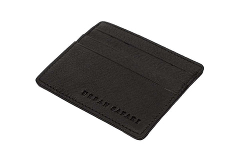 Black Landscape Leather Card Holder